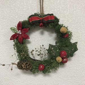 クリスマスリースのリボン