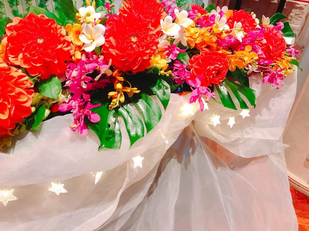 ハワイアンなお花で彩りを添えて♪♪
