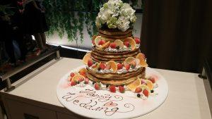パンケーキのウェディングケーキなんて見たことあります??♪