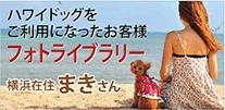ハワイドッグをご利用になったお客様フォトラブラリー 横浜在住まきさん