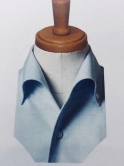 クールビズスタイルに向けて「スッと綺麗に衿が立つ衿型」が新しくオーダーシャツのデザインに加わりました。