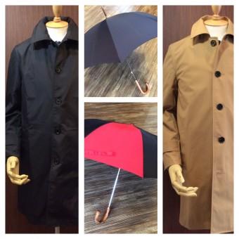 フォックスアンブレラの傘とコートの写真