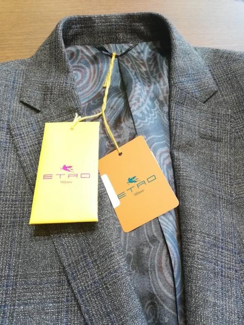 イタリア・ミラノの高級ブランド「ETRO(エトロ)」のスーツのリフォーム事例。横浜オーダースーツのナガサカ