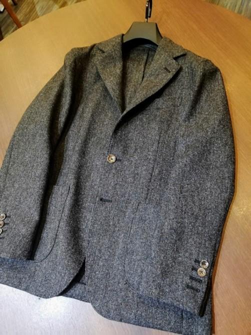 一枚仕立ての新パターンが登場!!秋冬でも軽い仕立てのジャケットがおすすめです。