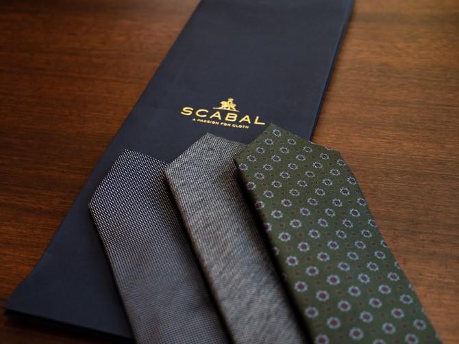 高級服地ブランドのSCABAL(スキャバル)がデザインしたネクタイ新柄入荷致しました。