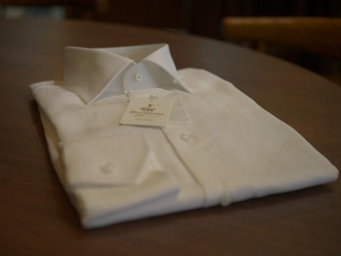 ハードマンズリネンの素材を使った麻のオーダーシャツ