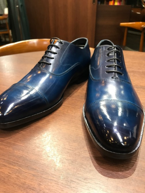 【革靴】カラーオーダーフェア仕上がりのご紹介 MADE IN ASAKUSA(浅草) 千寿染